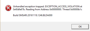 unhandled_exception_project_cars